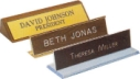 You never get a second chance to make a first impression, and few office products are more essential to making a first impression than name plates. Moments before clients or colleagues walk into your office, your name plate is already providing them valua