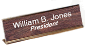 2in.x8in. Desk Sign<br>Aluminum Holder<br>w/ Plastic Nameplate