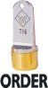 Western WS-716 1/2in. diameter Solid Neoprene Plug Inspection Stamp with brass cap. Works with any ink.