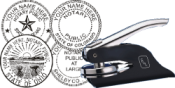 Order this notary embossing seal and it ships within 24 hours.