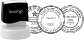 istamp® Pre-Inked Architect/Engineer Seal (1-3/4in. diameter)
