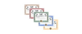 Stock Certificates Only