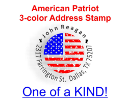 Multi-Color Holiday Address Stamps