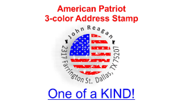 Two-Color Holiday Address Stamps