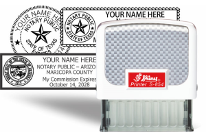 Notary Seal Traditional Rubber Hand Stamps