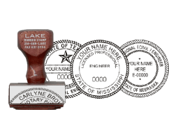 Architect & Engineer Seal Traditional Rubber Stamps