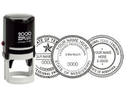 2000Plus® traditional self-inking ROUND Architect/Engineer seal stamp