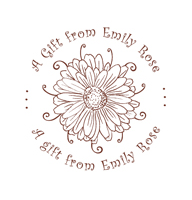 Designer Gift From Stamp with Open Bloom
