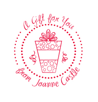Designer Gift From Stamp with Wrapped Gift