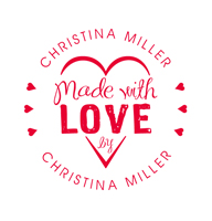 Designer Made with Love By Stamp w/ Heart