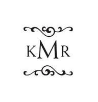 CS-70008 - Custom Square Monogram Stamp - CS-70008