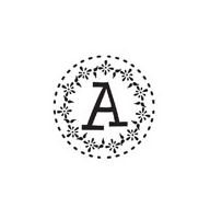 CS-70044 - Custom Round Monogram Stamp - CS-70044