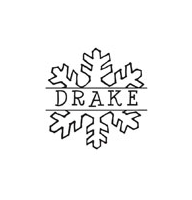 CS-70060 - Snowflake Monogram Stamp - CS-70060