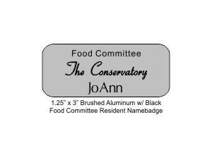 NB-CONSRVFOOD.SLVR - Conservatory Food Committee Resident