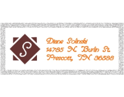 2-color Monogram Style B2 Designer Address Stamp