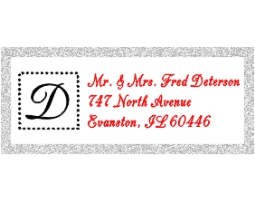 2-color Monogram Style C2 Designer Address Stamp