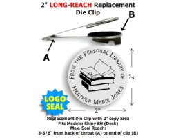 (PLEASE NOTE: this product requires a Shiny® Long-Reach seal desk frame to function properly and is NOT intended for standalone use.  There are a variety of seal frame brands on the market.  This dieholder is designed for use in the Shiny® frames only.)