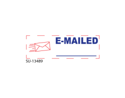 "Purchase two-tone office stamps here. We carry a vast line of multi-colored office stamps. Add a ""E-Mailed"" 2-Color pre-inked stamp to your cart today!"