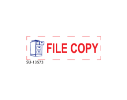 "Browse our office stamps! Fred Lake carries a vast line of multi-color stamps. Take a look at our ""File Copy"" 2-Color pre-inked stamp here, and buy today!"