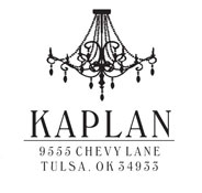 Custom Chandelier Design Address Stamp CS-50034