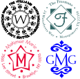 Looking for custom rubber stamps? At Fredlake you can find a variety of monogram , and address stamps for every occasion.