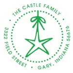 Custom Star Address Stamp CS-50078