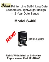 S-400 - Shiny S-400 Self-Inking Dater