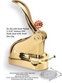 View our EG Deluxe Gift Embosser With Gold Plated Finish here, and discover our embossers, stamps, and other products that will leave a lasting impression.