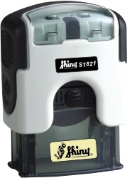 S-1821 Premium Line Self-Inking stamp from Shiny USA. Small enough to take with you anywhere.