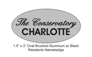 Conservatory Residents Oval Badge