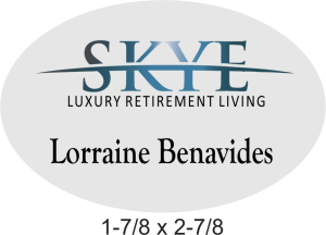 SKYE Oval Residents Badge