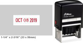 Shiny S-828D Self-Inking Dater with a 1-1/4in. x 2-3/16in. impression area.