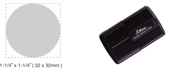 S-Q32 Self-Inking Round Handy Stamp